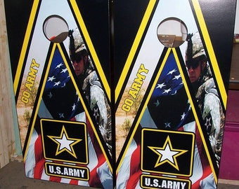 Army Cornhole Boards ( Bags are included )
