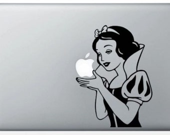 "Sticker ""White snow black"" for Mac Book"