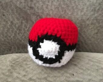 Pokeball crocheted plush toy
