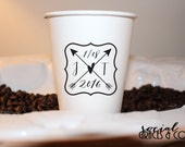 Paper Wedding Cups • Personalized Disposable Paper Cup • Serve Hot Beverages • Event Cups • Weddings • Bridal Showers • Baby Showers • Party