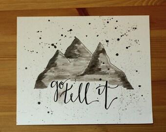 Go Tell It Handmade Watercolor Print
