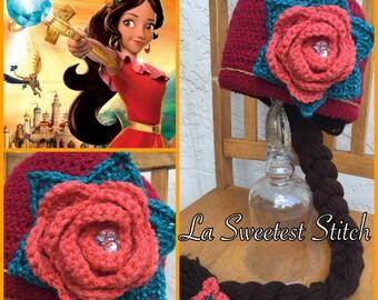 Elena of Avalor inspired crocheted hat