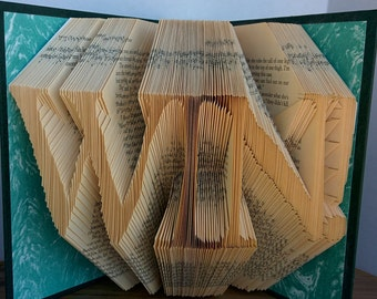 WIN! - Folded Book Art - Fully Customizable. athelete, coach, competition