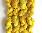 Hand Dyed with Soursob Flowers Bright Yellow Naturally Dyed Eco Dye Yarn Cormo Wool 10 Ply Aran Weight  100g Oxalis