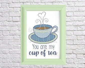 My Cup of Tea Cross Stitch Pattern