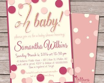 Oh Baby! Baby Shower Invitation