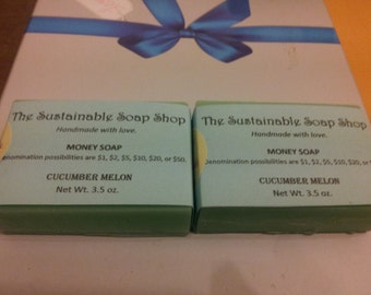 MONEY SOAP - Cash in a Bar - Soap up in Cents - Gluten Free, Vegan, Natural Ingredients