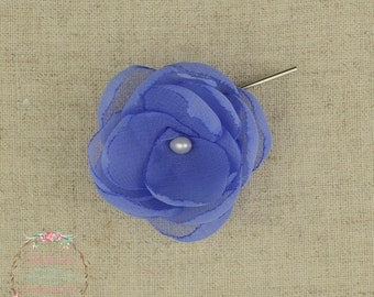 Periwinkle Wedding - Cornflower Wedding - Blue Hair Flower - Cornflower - Bridesmaids - Blue Flower Girls - Blue Hair Clip-Periwinkle Brooch