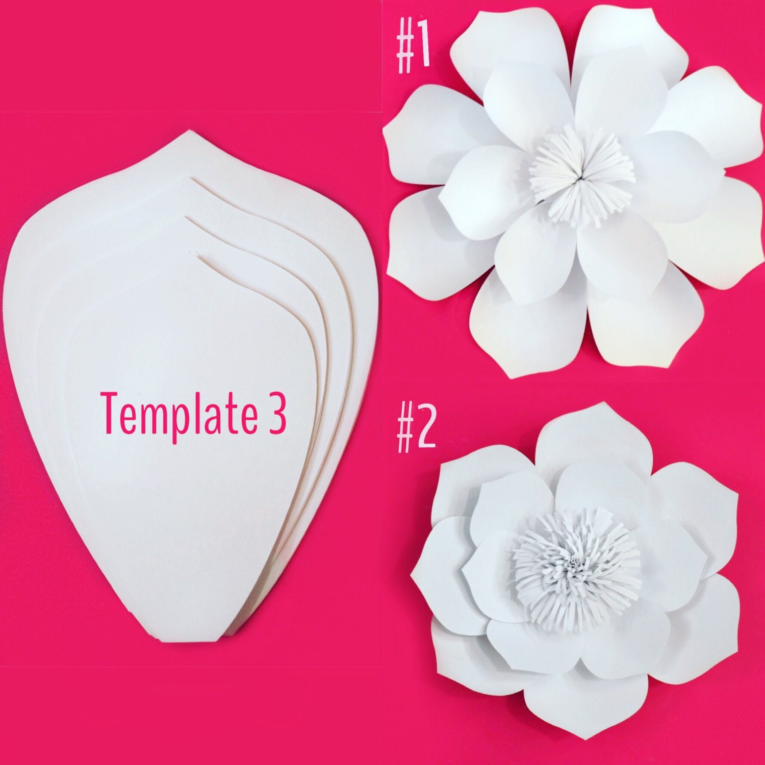 paper flower template diy kit sale