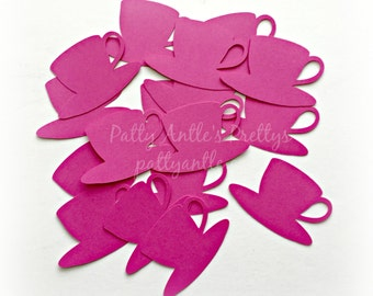 Teacup Die Cuts, Coffee Cup Die Cuts, Teacup Confetti, Coffee Cup Confetti, Mother's Day Tea, Tea Party Die Cuts, 18 Ct.