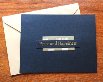 Peace and Happiness Notecard