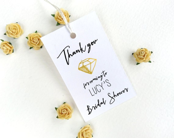 wedding shower gift list template - bridal shower favor tag template bridal thank by