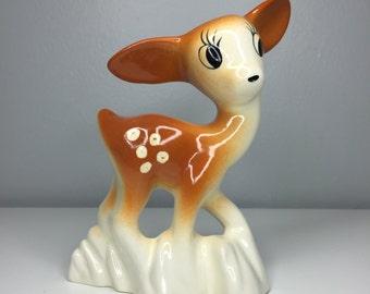 vintage ceramic deer figurine Bernard Studios California