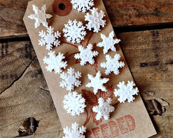 Pretty Snowflake Button Embelisents from Dress It Up