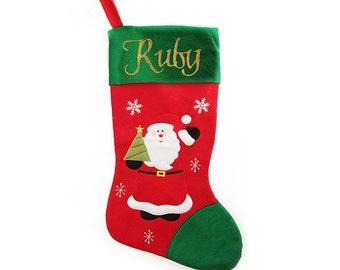 Personalised Jumbo Felt Santa Christmas Stocking