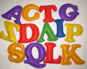 English alphabet 26 Letters Alphabet Multicolored letters Soft letters Multicolored English letters educational toys