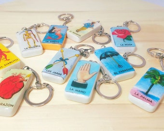 Lotería  Card Keychain