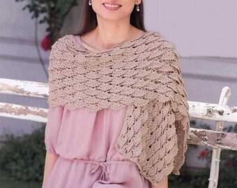 Femmes écharpe crochet beige / custom