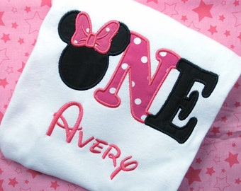 Minnie Mouse Birthday Shirt, Minnie Mouse One, Minnie First Birthday