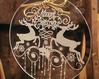 Ornate Deer - Glass Ornament