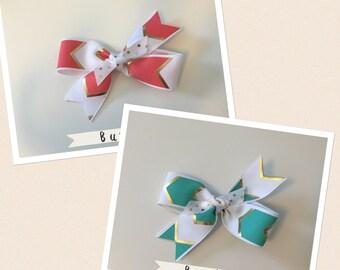 Mini Pinwheel Hair Bow