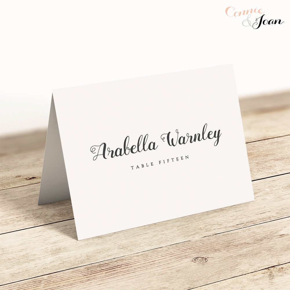 Amazing image regarding printable place card