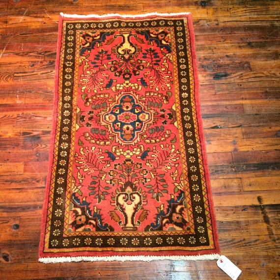 Vintage Persian Rug Lilihan Oriental Rug / Floral