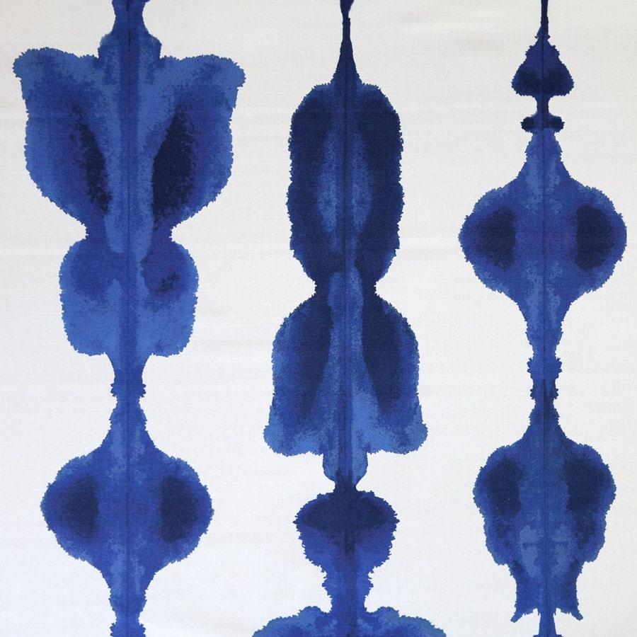 Korla Fabric Cobalt Blue Fabric Ikat Fabric Boho Fabric