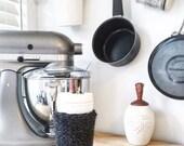 Mug Koozie, knit cozy, cup sleeve