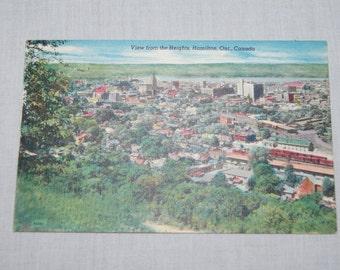 Vintage 1950's - blank canadian postcard Hamilton Ontario Linen postcard
