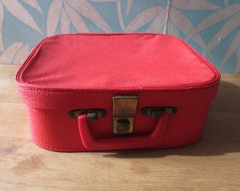 1960s red vanity/overnight case