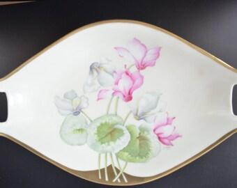PT Bavaria Porcelain Serving Bowl Artist Signed