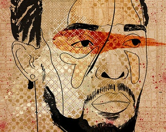 Poster of Omar Little, Michael K. Williams, from HBO Series The Wire / Pop Art / Illustration