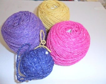 Yarn Skeins in 4 Bright Colors!