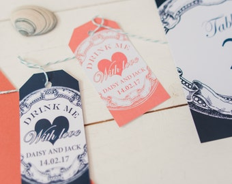 Nautical Favor Tags, (personalised wording)