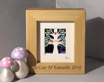 Super Mini Family Tree framed Papercut