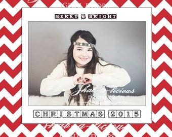 christmas /chevron digital collage/scrapbook/white red