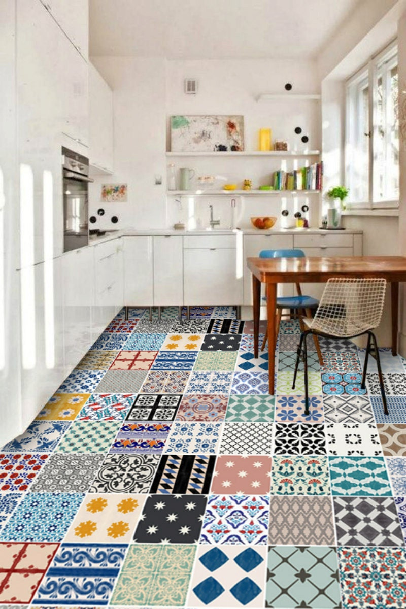 cuisine salle de bain turc iznik vinyl 24 sticker carrelage. Black Bedroom Furniture Sets. Home Design Ideas