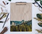 Yosemite Half Dome, Wood Clipboard, Natural Wood