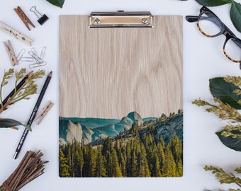 Yosemite Half Dome, Wood Clipboard, Natural Wood