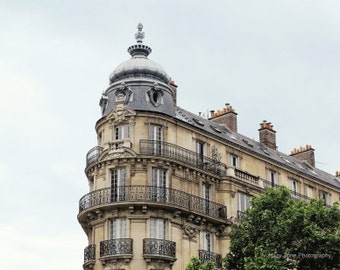 Paris Photography, Wall Art Print, French Building, Bedroom Decor, Rooftops, Architecture Art, Paris Photo, Europe Picture, Montparnasse