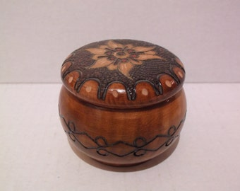 Collectible Hand Carved Wood Box