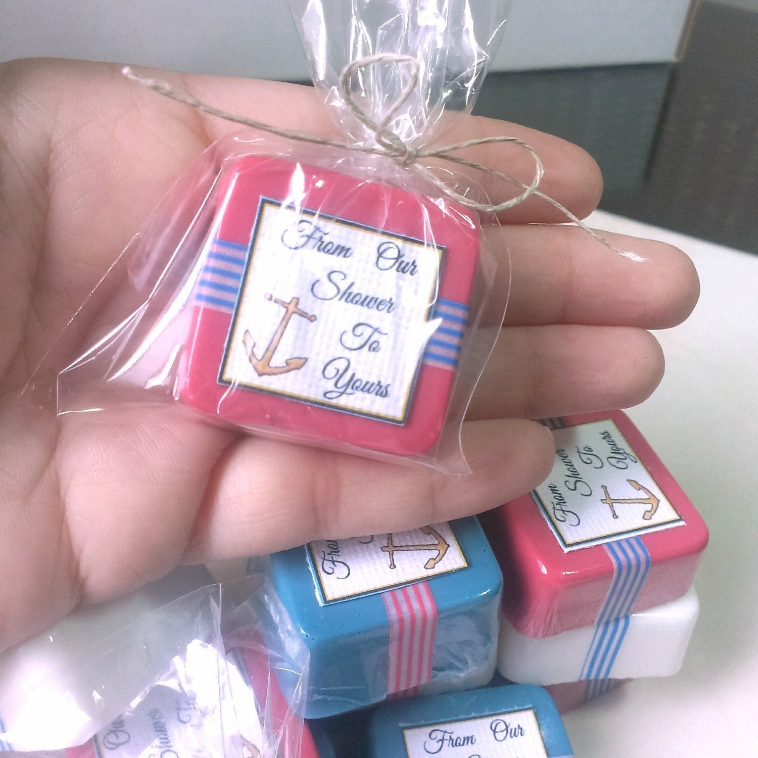 72 Anchor baby shower favors - nautical baby shower favor mini soaps ...