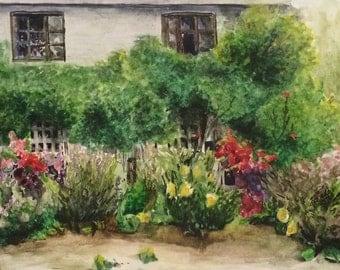 Landscape watercolor prints 5x7