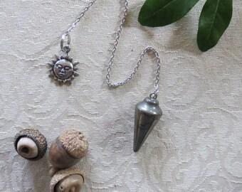 Pyrite Pendulum for Divination Magic- Fool's Gold Pendulum