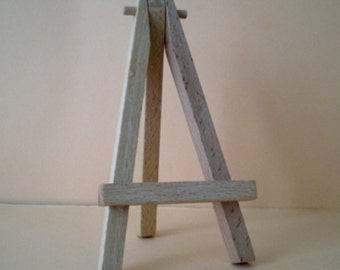 Mini easel / table card holder made of Birch wood 12 cm