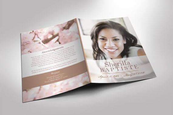 cherry funeral program publisher and word 2013 template 8