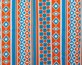 Orange and blue funky geo...