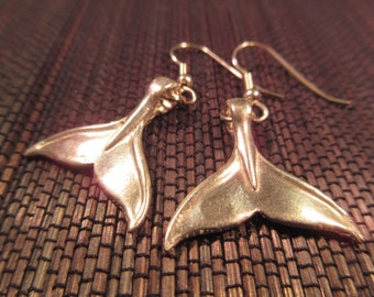 Whimsical Sterling Silver Whale Tale Earrings