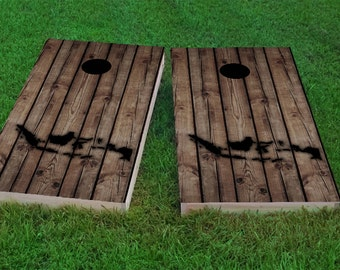 Wood Indonesia Themed 2x4 Custom Cornhole Board Set with bags | Custom Corn Hole | Bag Toss | Corn Toss | Bean Bag Toss